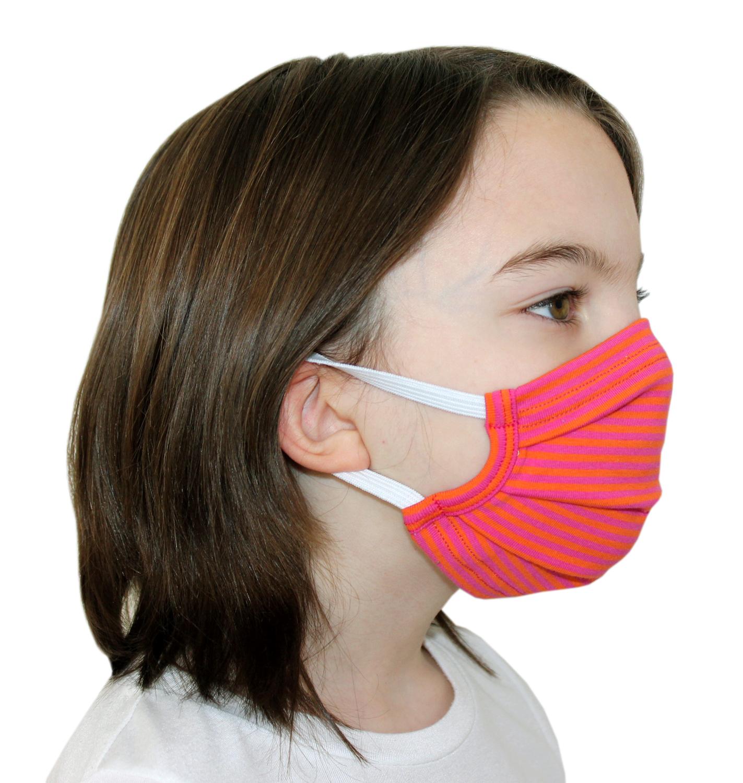 Behelfsmasken für Kinder & Erwachsene mit Steifen