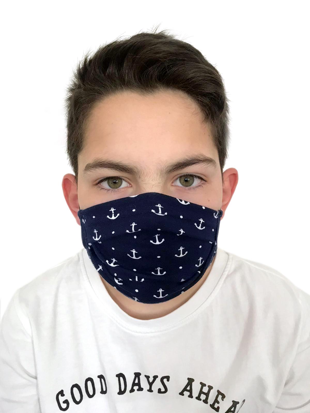 Behelfsmasken Kinder & Erwachsene mit Anker