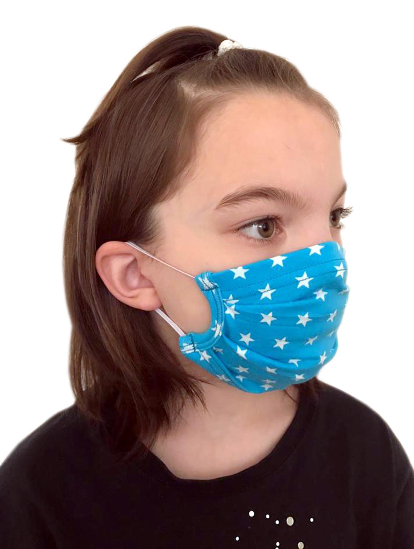 Behelfsmasken für Kinder & Erwachsene mit Sternchen