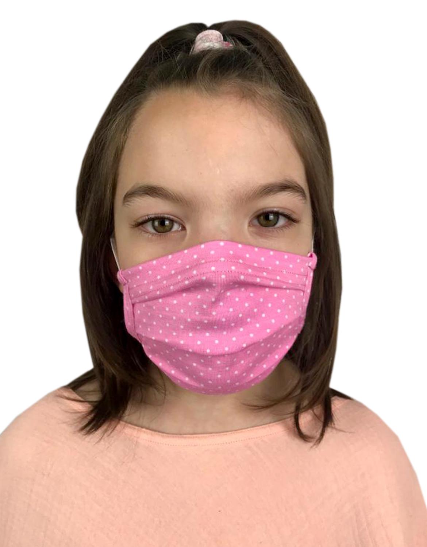 Behelfsmasken für Kinder & Erwachsene mit Punkte